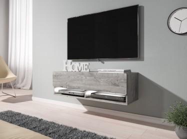 TV-Meubel Asino LED - Grijs eiken - 100 cm - ACTIE