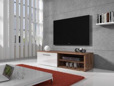 TV-meubel Bash - Wit - Eiken - 120 cm