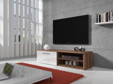 TV-meubel Bash - Wit - Eiken - 120 cm - ACTIE