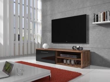 TV-meubel Bash - Zwart - Eiken - 120 cm