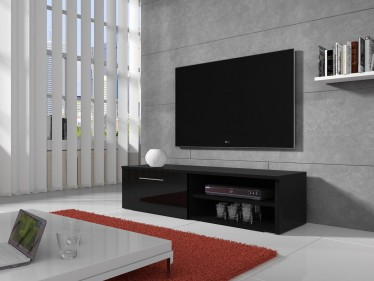 TV-meubel Bash - Zwart - 120 cm - ACTIE