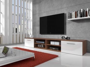 TV-meubel Bash II - Wit - Eiken - 240 cm - ACTIE
