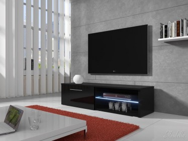 TV-meubel Bash LED - Zwart - 120 cm