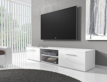 TV-meubel Basura I - Wit - 160 cm - ACTIE