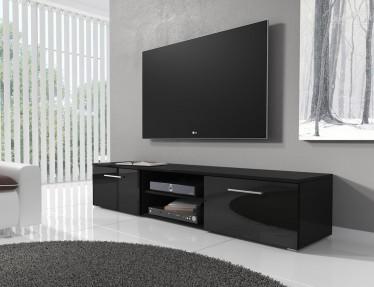 Modern Tv Meubel Zwart.Zwarte Tv Meubels Meubella