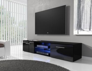 TV-meubel Basura I LED - Zwart - 160 cm - ACTIE