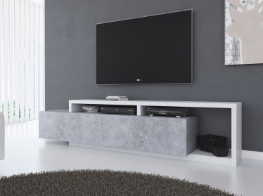 TV-Meubel Bello - Beton - Wit - 219 cm