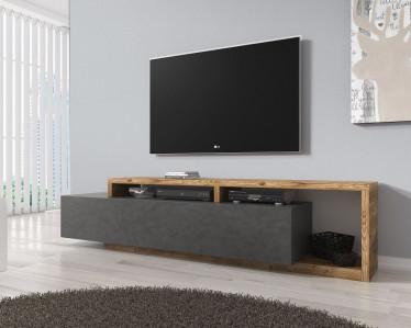 TV-Meubel Bello - Grijs - Eiken - 219 cm