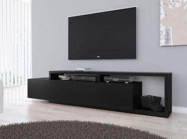 TV-Meubel Bello - Mat Zwart - 219 cm