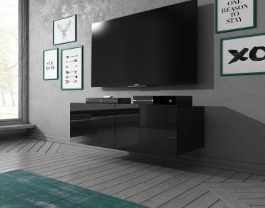 TV-Meubel Calgary - Zwart - 100 cm - Hangend - ACTIE