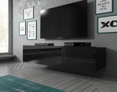 TV-Meubel Calgary - Zwart - 150 cm - Staand of hangend
