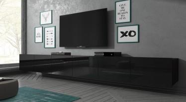 TV-Meubel Calgary - Zwart - 300 cm - Hangend of staand