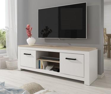 TV-Meubel Eden - Wit - Licht eiken - 161 cm - ACTIE
