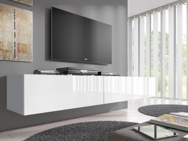 TV-Meubel Flame - Wit - 200 cm