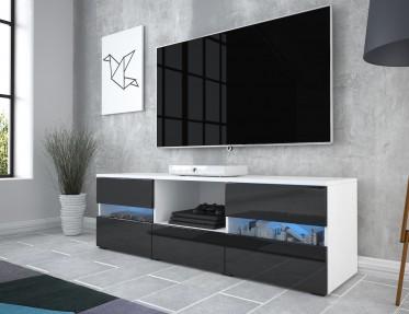 TV-Meubel Gody - Wit - Zwart - 140 cm - ACTIE