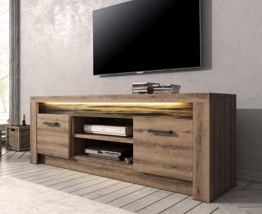 TV-Meubel Invido - Eiken - 137 cm - met LED-verlichting