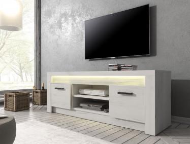 TV-Meubel Invido - Wit - 137 cm - met LED-verlichting