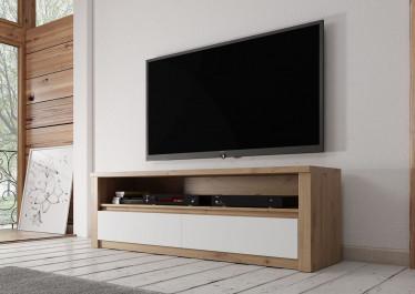 TV-Meubel Melody - Wit - Eiken - 130 cm - ACTIE