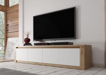 TV-Meubel Melody - Wit - Eiken - 170 cm