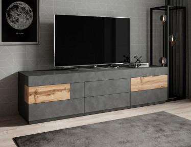 TV-Meubel Sublime - Grijs - Eiken - 206 cm