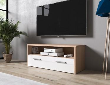 TV-Meubel Trente - Licht eiken - Wit - 100 cm - ACTIE