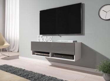 TV-Meubel Asino - Grijs - Wit - 100 cm