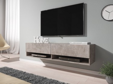 TV-Meubel Asino - Betonlook - 140 cm