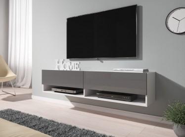 TV-Meubel Asino - Grijs - Wit - 140 cm