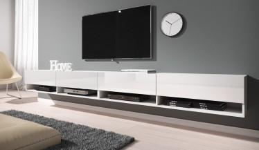 TV-Meubel Asino - Wit - 280 cm