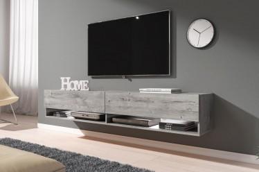 TV-Meubel Asino LED - Grijs eiken - 180 cm - ACTIE