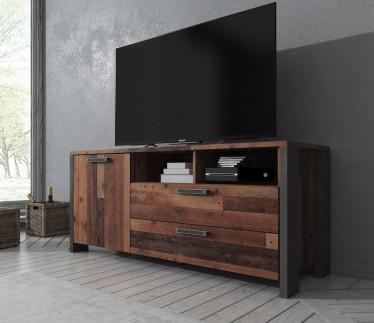 TV-Meubel Cade - Eiken - Grijs - 142 cm