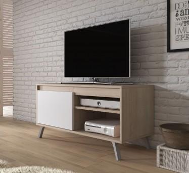 TV-Meubel Danon - Wit - Licht eiken - 100 cm
