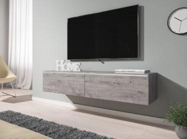TV-Meubel Dixon - Grijs eiken - 140 cm - ACTIE