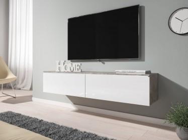 TV-Meubel Dixon - Wit - Betonlook - 140 cm