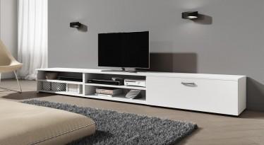 TV-Meubel Sandro - Wit - 255 cm - ACTIE