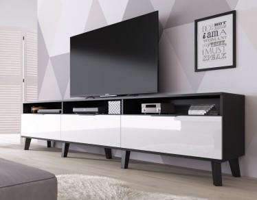Zwevend Hoogglans Zwart Tv Meubel Flame 1 Lowboard Tv Kast.Tv Meubels 200 T M 219 Cm Vanaf 240 Cm Meubella
