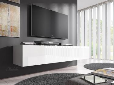 TV-Meubel Flame - Wit - 160 cm