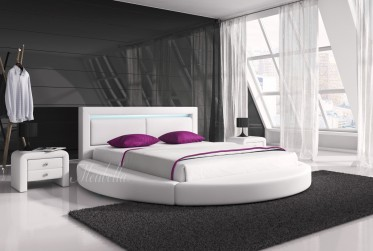Tweepersoonsbed Bolino - Wit - 180x200 cm