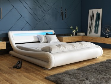 Tweepersoonsbed Carson - Wit - 160x200 cm