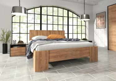 Bed Monaco - Eiken - 160x200 cm