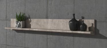 Wandplank Verity - Betonlook - 140 cm