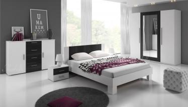 Slaapkamer Victor 180 - Wit - Zwart - Groot