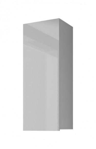 Vitrinekast Calgary 1 - Wit - 45 cm - Dicht