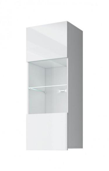Vitrinekast Calgary 2 - Wit - 45 cm - Met glas - ACTIE