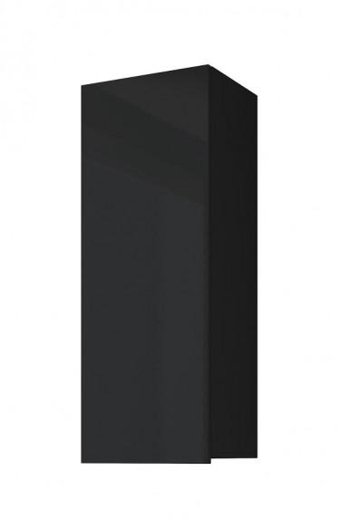 Vitrinekast Calgary 1 - Zwart - 45 cm - Dicht