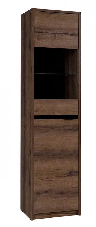 Vitrinekast Diplo - Eiken - 50 cm