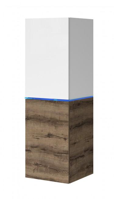 Vitrinekast Donn - Wit - Donker eiken - 35 cm