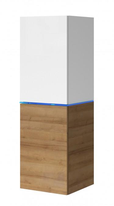 Vitrinekast Donn - Wit - Eiken - 35 cm