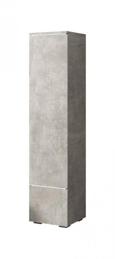 Vitrinekast Verity - Betonlook - 30 cm - Dicht - ACTIE