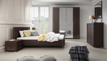 Slaapkamer Volturi 140 - Wenge - Groot